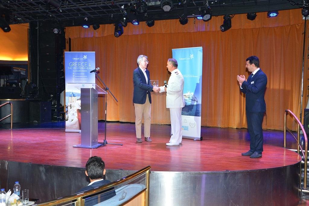 H Celestyal Cruises υποδέχτηκε τον Πρέσβη των Ηνωμένων Πολιτειών, Geoffrey Pyatt, στο Celestyal Crystal