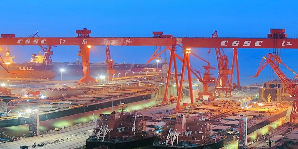 China's state shipyards resume work, private-owned remain suspended