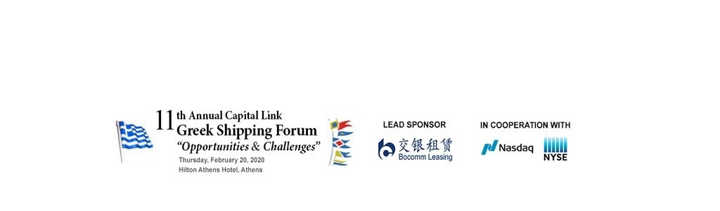 """""""11th Annual Capital Link Greek Shipping Forum"""" """"Opportunities & Challenges"""""""